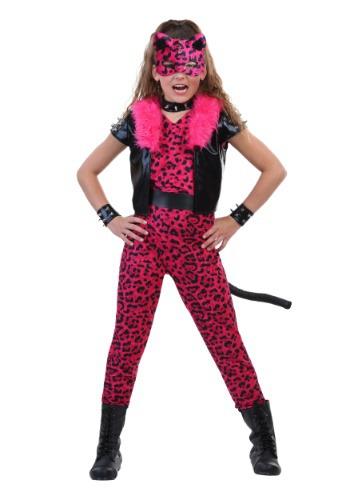 Tween Pink Party Leopard Costume