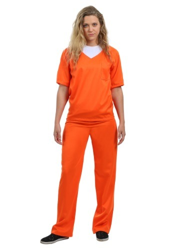 Women's Orange Prisoner Costume