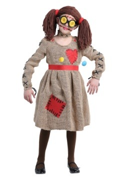 Burlap Voodoo Doll Girls Costume