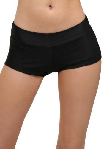 Plus Size Deluxe Black Hot Pants