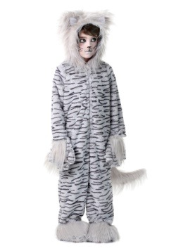 Deluxe Grey Cat Kids Costume