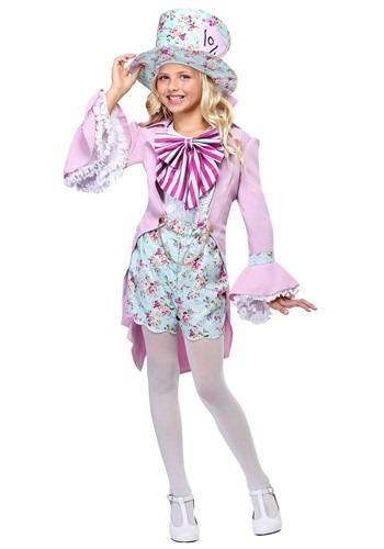 Pretty Mad Hatter Girls Costume