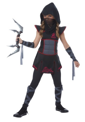 Girls Black Ninja Costume