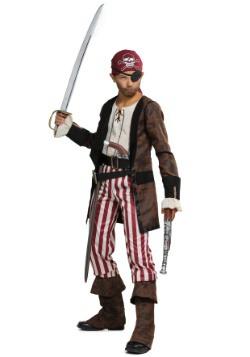 Brown Coat Pirate Boys Costume