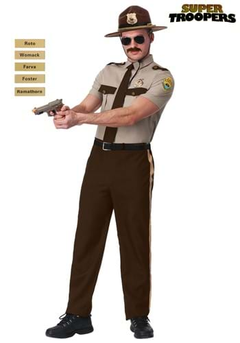 Adult State Trooper Costume- Super Troopers