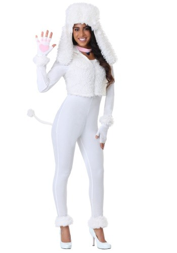 Women's White Poodle Costume