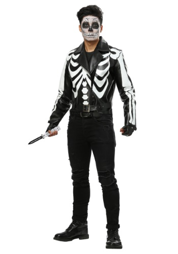 Moto Skeleton Mens Costume