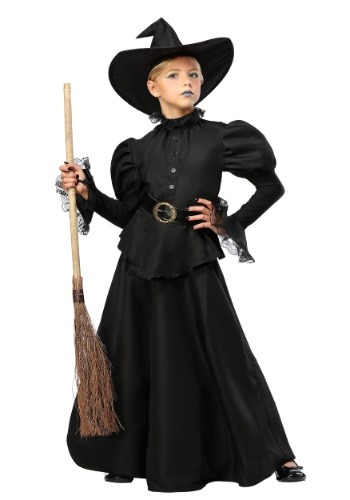 Classic Black Witch Girls Costume