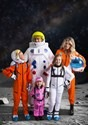 Kids Orange Astronaut Jumpsuit Costume