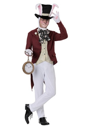 Men's White Rabbit Costume