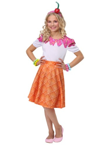 Girls Ice Cream Cone Costume