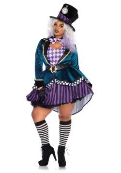 Women's Plus Size Delightful Mad Hatter Costume
