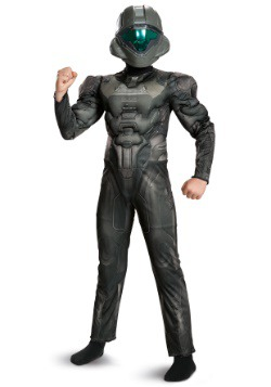 Halo Spartan Buck Classic Boys Muscle Costume