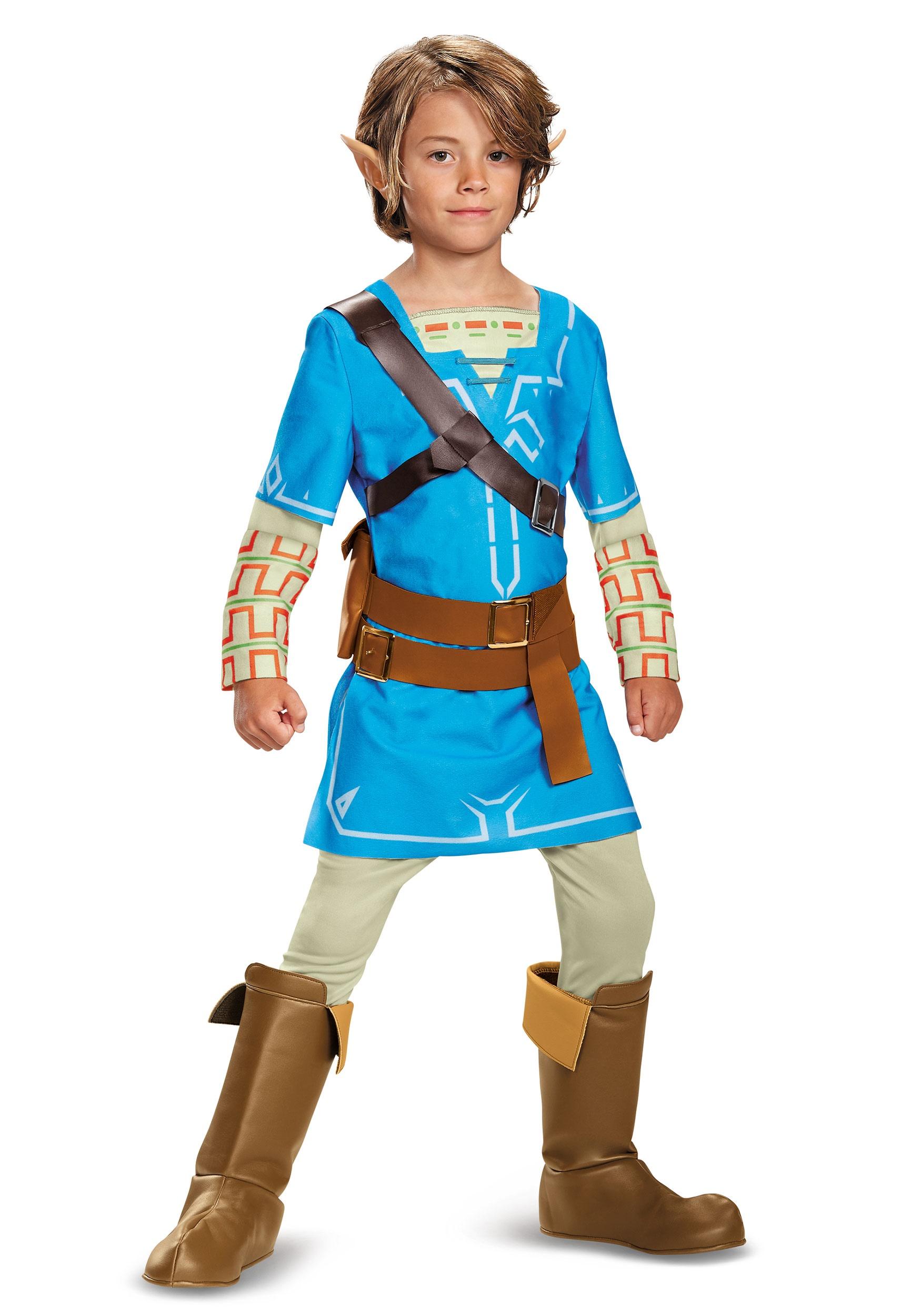 Legend of Zelda Breath of the Wild Link Deluxe Boys Costume  sc 1 st  Halloween Costumes AU & Zelda Costumes - Legend of Zelda Costume Ideas