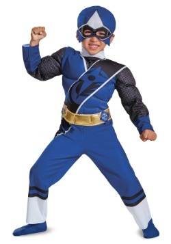 Power Ranger Ninja Steel Blue Ranger Toddler Muscle Costume
