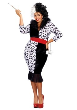 Woman's Plus Size Dalmatian Diva Costume