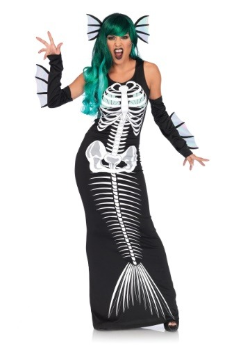 Women's Skeleton Siren Costume