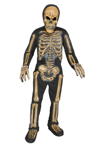 Relistic Skele-bones Boys Costume