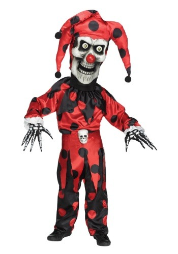 Boy's Evil Bobble Head Jester Costume