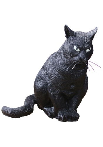 13'' Realistic Scary Cat Decoration