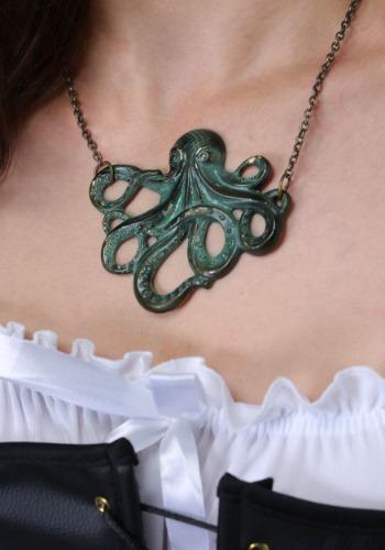 Pirate Kraken Emblem Necklace