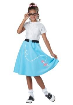 Girls Blue 50's Poodle Skirt