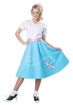 Womens Blue 50's Poodle Skirt