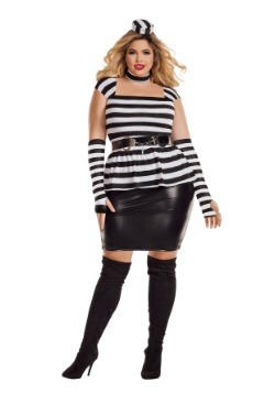 Woman's Plus Size Jailbird Costume