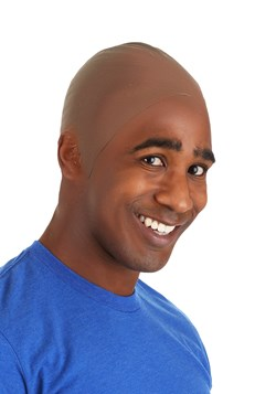Adult Dark Bald Wig