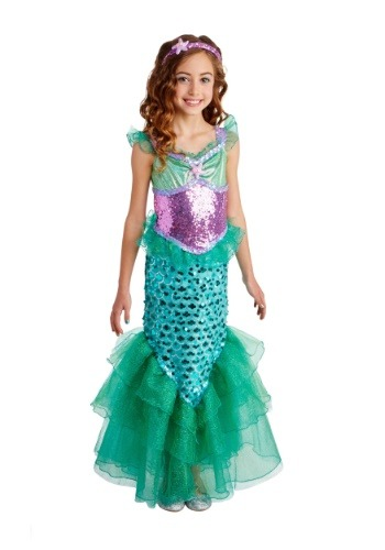 Blue Seas Mermaid Deluxe Girls Costume