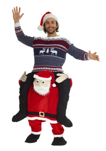Santa Piggyback Adult Costume