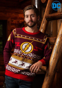 Flash Logo Mens Holiday Sweater