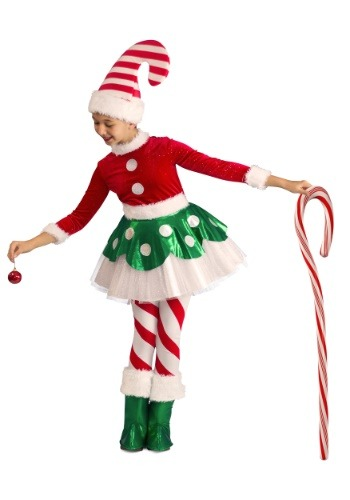 Toddler Candy Cane Elf Princess