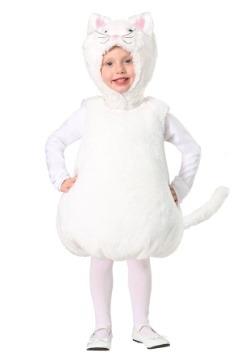 Toddler Bubble Body White Kitty Costume