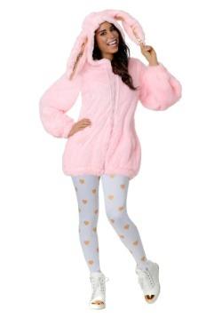 Women's Fuzzy Pink Bunny Costume