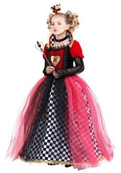 Girl's Ravishing Queen of Hearts Costume