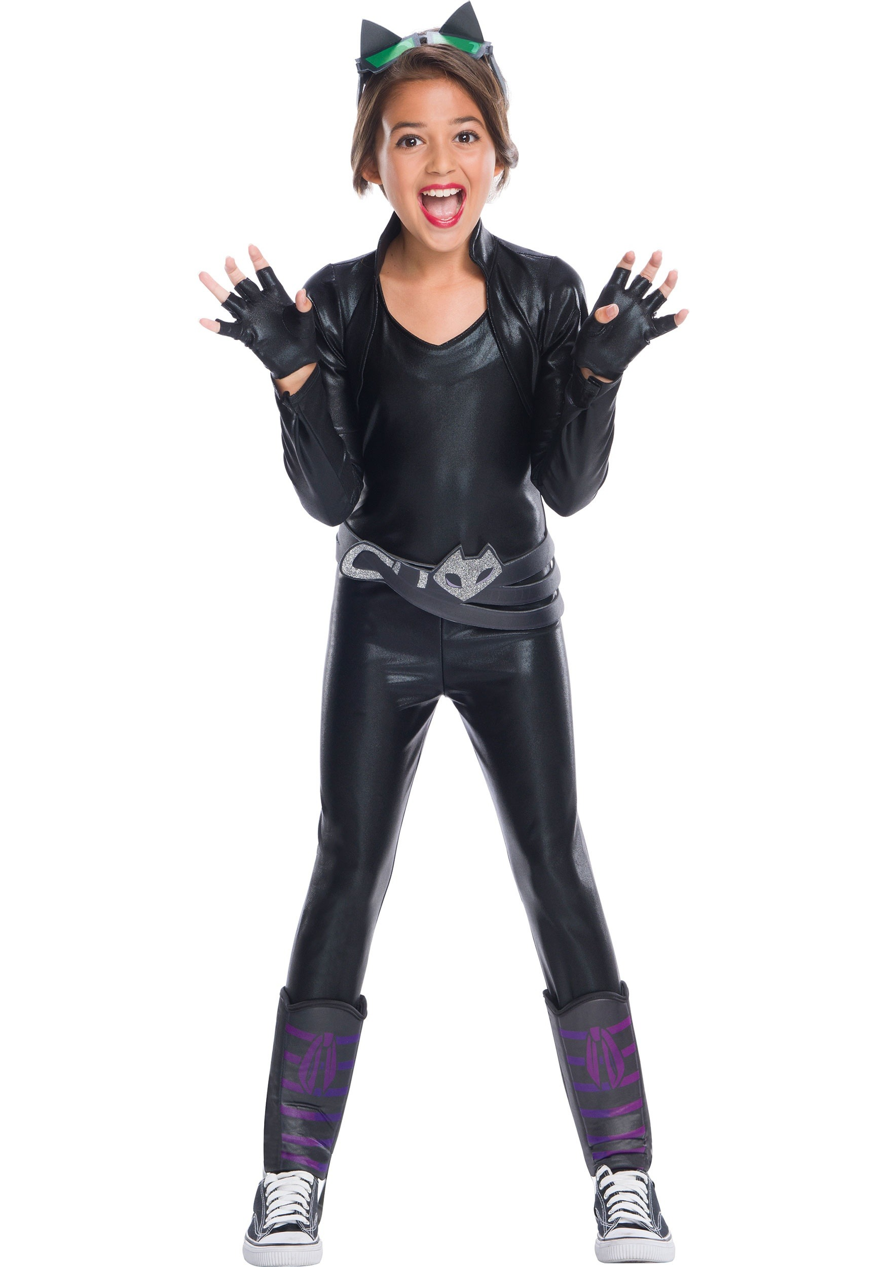 DC Superhero Girls Catwoman Costume  sc 1 st  Halloween Costumes AU & DC Superhero Girls Catwoman Costume for Girls