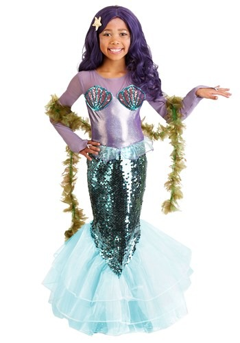 Pretty Purple Mermaid Child's Costume
