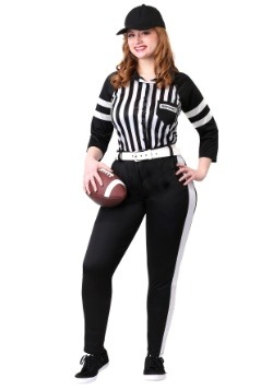 Women's Plus Size Referee Costume