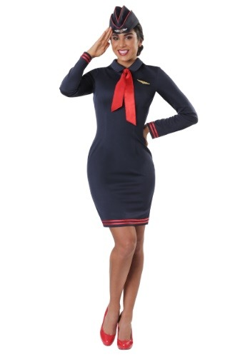 Plus Size Workin' The Skies Flight Attendant Costume