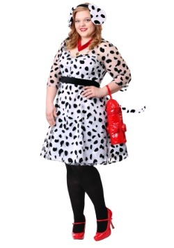 Women's Plus Dressy Dalmatian Costume