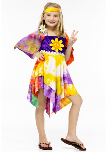 Girls Daisy Hippie Costume