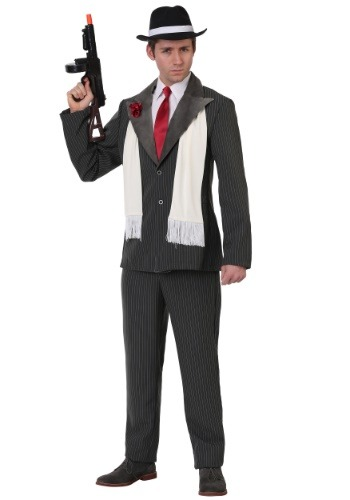 Men's Plus Size Vicious Gangster Costume