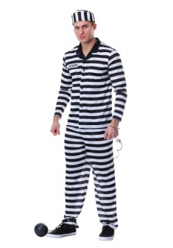 Men's Plus Size Jailbird Costume