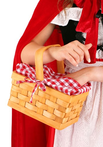 Red Gingham Hand Basket
