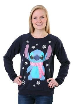 Juniors Lilo and Stitch Snowflake Stitch Light Up Sweater1