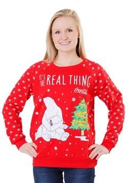 Coca Cola Polar Bear Light Up Juniors Sweatshirt