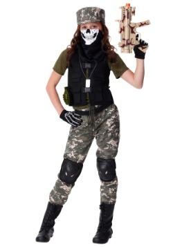 Girls Stealth Soldier Costume