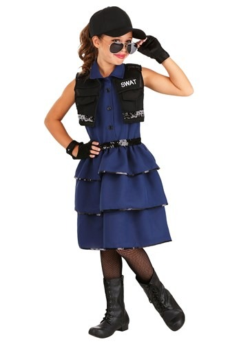 Girl's SWAT Costume