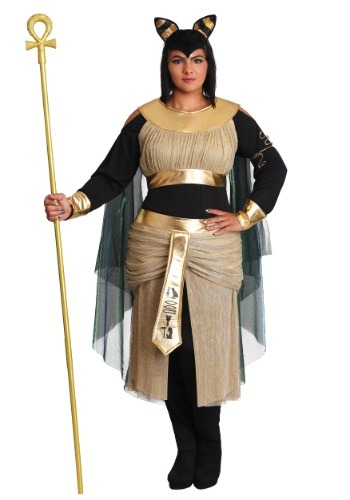 Women's Plus Size Bastet Goddess Costume
